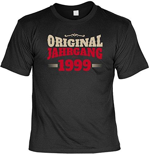 Zum Geburtstag - Original Jahrgang 1999 - Ein cooles T-Shirt als Geburtstagsgeschenk! Schwarz