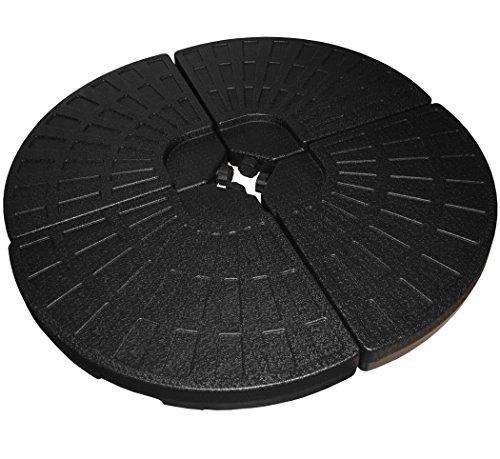 KMH, 4er Set Schirmgewichte für Wasser/Sand-Füllung (52/66 kg) aus Hochwertigem HDPE Plastik...