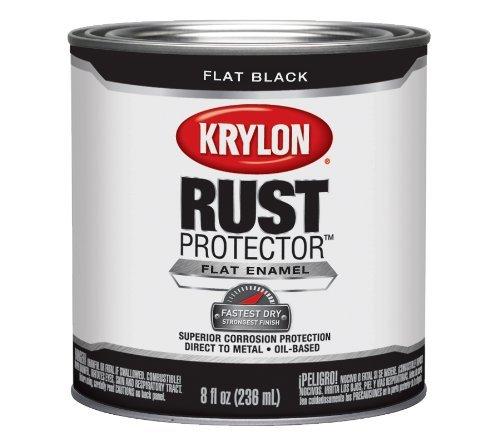 krylon-69108-rust-protector-with-brush-on-8-ounce-preventative-enamel-flat-black-by-krylon