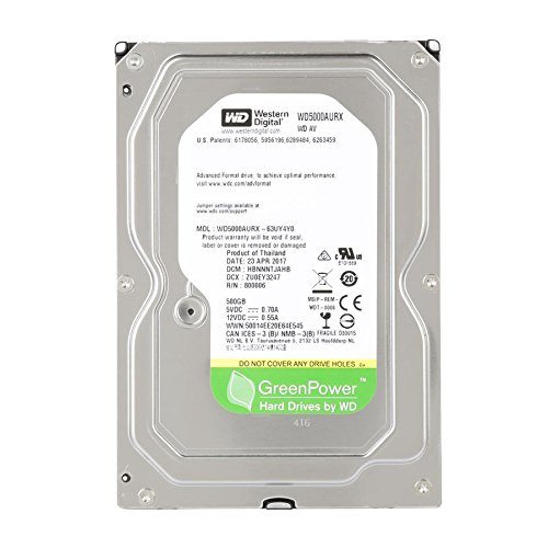 Western Digital WD5000AURX 500GB SATA-Festplatte (Western Digital Green 500gb)