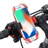 Handyhalter fürs Fahrrad, Ipow Universal Handyhalterung für Fahrrad & Motorrad Lenker Halterung Halter Kompatibel mit iPhone X 8 7 6 Plus Samsung s8 s7 s6 und mehr