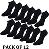 Universal 1558 Mens Sports Performance Trainer Low Cut Socks - 12 Pair Pack
