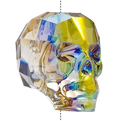 Swarovski 5750Crystal Skull Bead iridescente verde 19mm