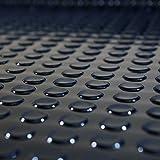 1m² Noppenmatte | 1,00m x 1,00m | Stärke: 4,5mm | Farbe: schwarz