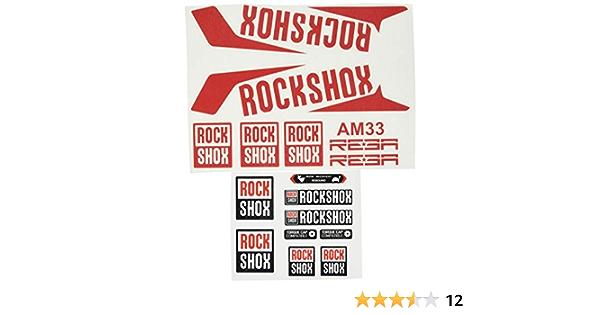 White 29 Ecoshirt M6-B0GU-2U3S Fork Stickers Rockshox Reba 2016 Am33 Stickers Aufkleber Decals Adesivi Bike BTT MTB Cycle
