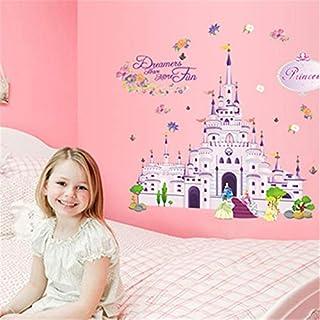 LETAMG Wall Sticker The Magic Princess Castle Wall Decal Kindergarten Diy Art Pvc Children Wall Stickers For Kids Rooms Home Decor Mural Poster