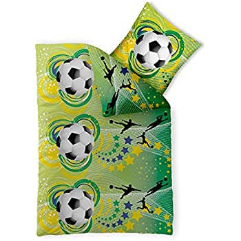 Fußball Bettwäsche 135x200 Baumwolle, Somme-Bettwäsche