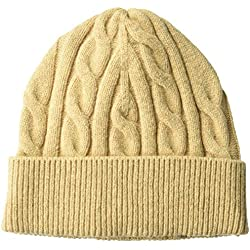 Amazon Essentials Cable Knit Hat Hats, Camel, One Size