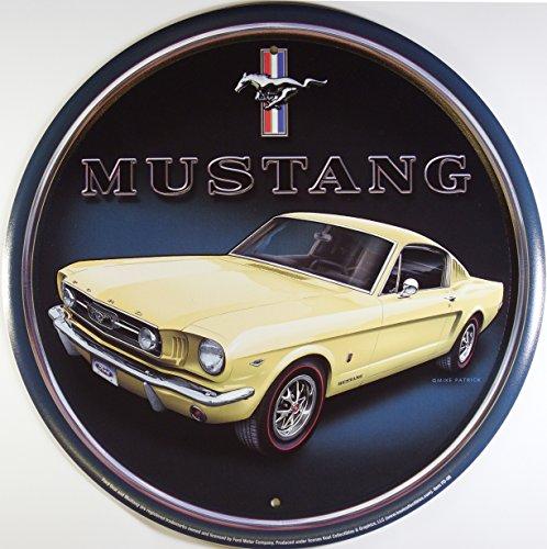 ford-mustang-rund-targa-placca-metallo-piatto-nuovo-30x30cm-vs1817-1
