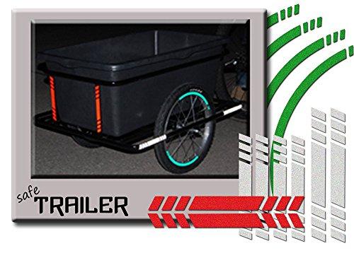 SafeTrailer 12teiliges Aufkleber Set - Konturmarkierung für Transportanhänger Roland Big Boy mit Tiefdeichsel