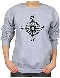 Nautical Compass Maritime Ships Sailing Womens Sweatshirt