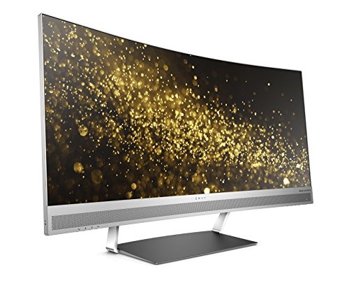 HP ENVY 34-Inch VA Curved Monitor (3440 x 1440 Pixel Ultra-wide QHD (UWQHD) 6ms 100Hz Refresh Rate - Black and Silver