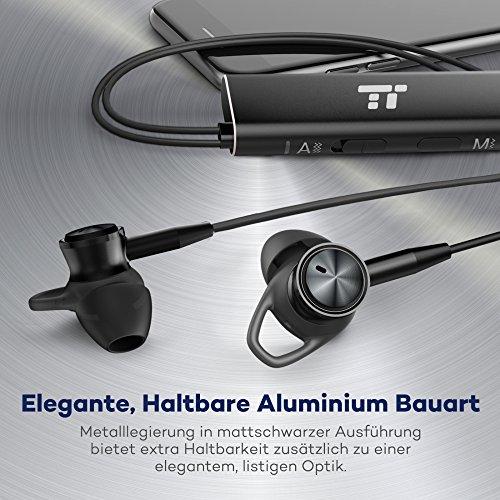 Noise Cancelling Kopfhörer TaoTronics In Ear Ohrhörer mit Rauschunterdrückung verstärkter Wahrnehmung Überwachungsmodus, ANC MEMS Mikrofon und erstklassisches Aluminium in mattschwarzer Ausführung - 6