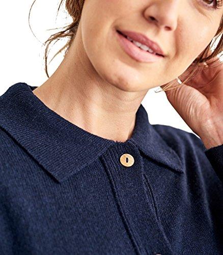 WoolOvers Cardigan entièrement boutonné à col - Femme - Laine dagneau Navy