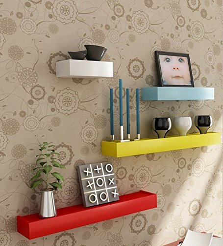 Wooden Wall Shelf Set Of Four/ Display Rack Shelf/Wall Shelves  available at amazon for Rs.995