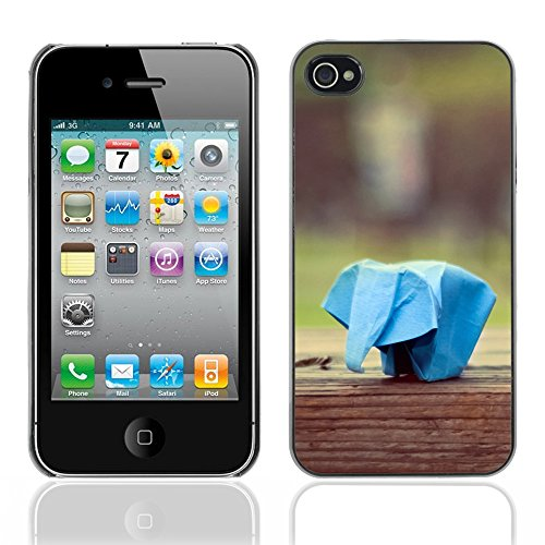 Graphic4You Elefant Origami Japanese Asian Art Design Harte Hülle Case Tasche Schutzhülle für Apple iPhone 4 und 4S Design #19