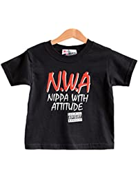 Nippa With Attitude - NWA logo T-shirt by Nippaz With Attitude. For Toddlers / Kids aged 1-2 years