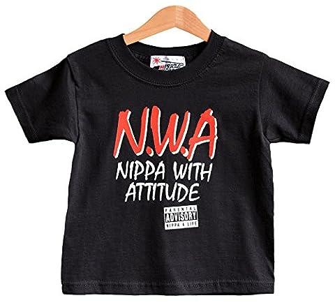 Nippa avec Attitude RNF T-shirt pour enfant 1–2ans