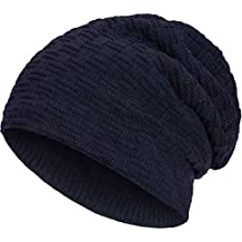 Compagno caldo berretto foderato berretto invernale beanie modello  intessuto con soffice fodera interna in pile 938811d17f4b