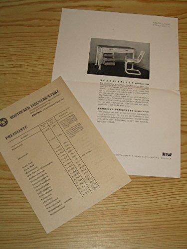 Preisliste Rostocker Industriewerke (2 Artikel)