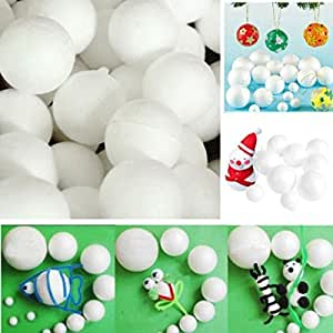50 Pcs Ballon Balle en Mousse de Polystyrène Boule Ornements Décoration de Noël Cadeau De Christmas 70MM