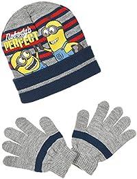 MINIONS - Set de bufanda, gorro y guantes - para niño