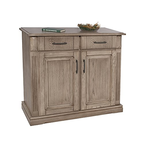 Anrichte, Eiche teilmassiv, trüffelfarbig gebeizt und lackiert mit 2 Schubkästen, 2 Türen und 1 Einlegeboden, Maße: B/H/T ca. 100/90/42,5 cm