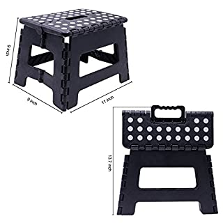 ASAB Folding Step Stool, Plastic, Small - 150 Kg Capacity