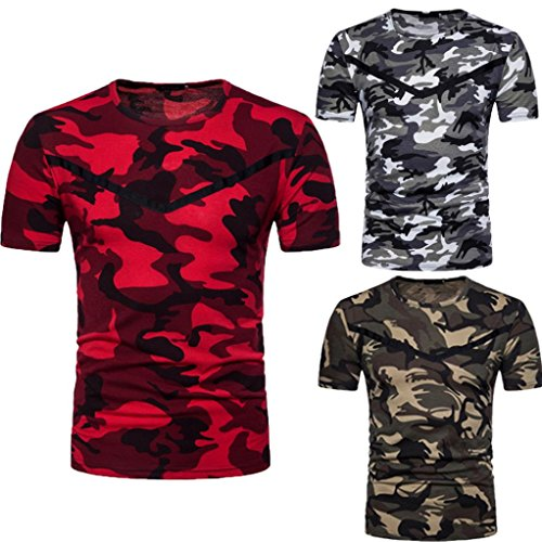 Malloom Chemisier Haut Imprimé Camouflage Casual O Neck Pullover Longue T-Shirt