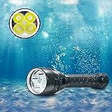 BESTSUN Unterwasser Tauchlampe, 5000 Lumen Tauchlampen Ultra Bright von 5X XML-L2 LED 100M...