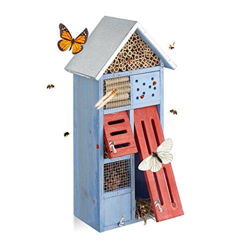 Design-Insektenhotel mit Metalldach