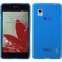 Funda de silicona para LG Optimus G - X-Style azul - Cover PhoneNatic Cubierta + protector de pantalla