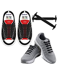 Homer No Tie Shoelaces für Kinder und Erwachsene Wasserdichte Silikon flache elastische Sportlauf Schnürsenkel mit Multicolor für Sneaker Stiefel Brettschuhe und Freizeitschuhe