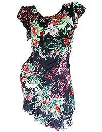 festliches Plisseekleid Ketten-Gürtel Sommerkleid Cocktailkleid Kleid Lila