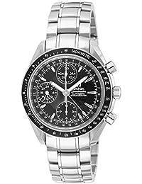 Omega de hombre 3220.50Speedmaster analógico automático día fecha reloj, plata
