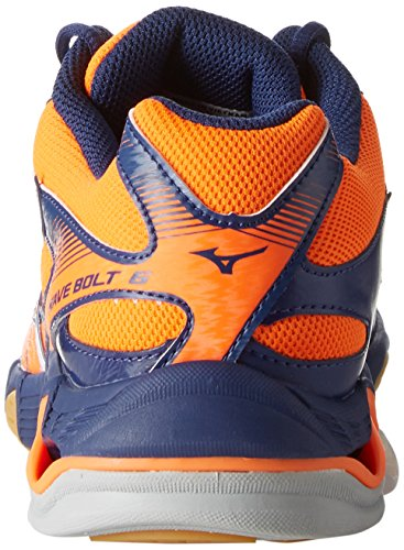 Mizuno Wave Bolt 6, Chaussures De Volley-ball Pour Hommes Orange (orangeclownfishblancbluedepths)