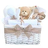 Glimmer vimini neutro Baby Baby regalo/Cesto regalo/unisex–Cesto Regalo di nuovo arrivo regali//maternità regalo/unisex bambino Cesto Regalo per Battesimo/spedizione veloce