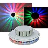 UFO Licht-Effekt mit 48 bunten LEDs, Ø130x40mm, 230V/10W, weiß