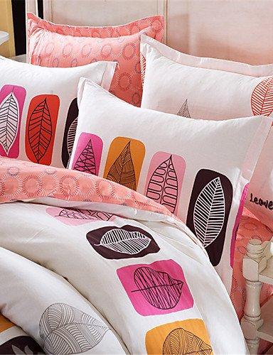 ZQ Schlagbohrmaschine verlässt Bettwäschesatz warme und weiche Bettdecke aus 100% Baumwollgewebe Bettwäsche für Schlafzimmer Blatt 4pcs , queen - 2