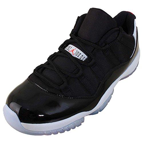 Nike Air Jordan 11 Retro Low, Chaussures de Sport-Basketball Homme Multicolore - Negro / Rojo / Plateado (Black / Infrared 23-Pr Platinum)