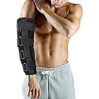 Filfeel Soporte de codo, estilo cobarde transpirable de invierno Soporte de codo Soporte de férula de brazo, alivio del dolor en las articulaciones, recuperación de lesiones (M)