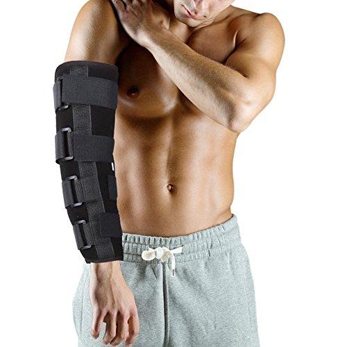 Ellenbogenbandage Atmungsaktiv Ellenbogenschoner Stützbandage, Schmerzlindernd bei Arthritis, Brüchen & Verstauchungen, Armschiene Unterstützung(L)