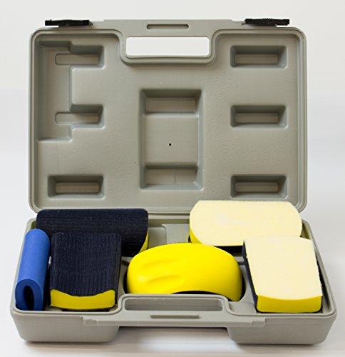 Profi Handschleifklotz Handschleifblock Set, Sand Block Kit, 6-teilig, im Koffer