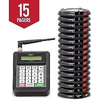 Personenrufsystem / Taschenpiepser für wartende Kunden in Restaurants, drahtlos Pager, Warteschlangen-Verwaltung, Satz mit 15 Stück