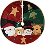 WeRChristmas Decorazione Gonna Albero Di Natale Personaggio, Tessuto, Multicolore, 100cm, grande