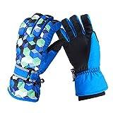 Eizur Kinder Erwachsene Skihandschuhe 3D Snowboard Handschuhe Thinsulate Ski-Handschuhe Thermohandschuhe Skibekleidung Elastische Bündchen Herren Damen Geschenk für Freien Skilaufen Wandern