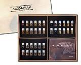 Kaffee Aromabar - die 36 wichtigsten Kaffeearomen in einer hochwertigen Holzbox inkl. Booklet -
