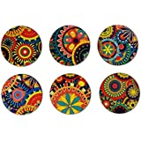 My Own Kaleidoscope Round Coasters Set Of 6 Multicolour