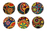 #10: My Own Kaleidoscope Round Coasters Set of 6 Multicolour