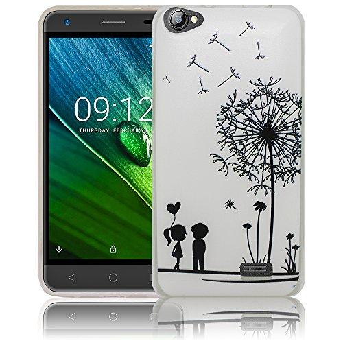 thematys Passend für Acer Liquid Z6E Pusteblume Silikon Schutz-Hülle weiche Tasche Cover Case Bumper Etui Flip Smartphone Handy Backcover Schutzhülle Handyhülle